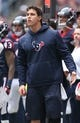 Dec 1, 2013; Houston, TX, USA; Houston Texans injured linebacker Brian Cushing on the sidelines during the game against the New England Patriots at Reliant Stadium. Mandatory Credit: Matthew Emmons-USA TODAY Sports