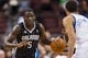 Dec 3, 2013; Philadelphia, PA, USA; Orlando Magic guard Victor Oladipo (5) brings the ball up court during the second quarter against the Philadelphia 76ers at the Wells Fargo Center. The Sixers defeated the Magic 126-125 in double overtime. Mandatory Credit: Howard Smith-USA TODAY Sports