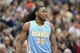 Nov 27, 2013; Minneapolis, MN, USA; Denver Nuggets forward Kenneth Faried (35) against the Minnesota Timberwolves at Target Center. The Nuggets defeated the Timberwolves 117-110. Mandatory Credit: Brace Hemmelgarn-USA TODAY Sports