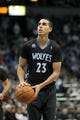 Nov 27, 2013; Minneapolis, MN, USA; Minnesota Timberwolves guard Kevin Martin (23) against the Denver Nuggets at Target Center. The Nuggets defeated the Timberwolves 117-110. Mandatory Credit: Brace Hemmelgarn-USA TODAY Sports