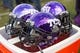 Nov 30, 2013; Fort Worth, TX, USA; A view of the TCU Horned Frogs chrome helmets during the game between the Horned Frogs and the Baylor Bears at Amon G. Carter Stadium. The Bears defeated the Horned Frogs 41-38. Mandatory Credit: Jerome Miron-USA TODAY Sports