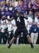 Nov 30, 2013; Fort Worth, TX, USA; TCU Horned Frogs quarterback Casey Pachall (4) passes against the Baylor Bears during the game at Amon G. Carter Stadium. The Bears defeated the Horned Frogs 41-38. Mandatory Credit: Jerome Miron-USA TODAY Sports
