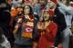 Dec 1, 2013; Kansas City, MO, USA; Kansas City Chiefs fans cheer against the Denver Broncos in the second half at Arrowhead Stadium. Denver won the game 35-28. Mandatory Credit: John Rieger-USA TODAY Sports