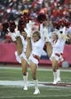 Dec 1, 2013; Kansas City, MO, USA; Kansas City Chiefs  cheerleaders perform before the game against the Denver Broncos in the first half at Arrowhead Stadium. Denver won the game 35-28. Mandatory Credit: John Rieger-USA TODAY Sports