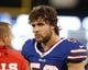 Dec 1, 2013; Toronto, ON, Canada; Buffalo Bills middle linebacker Kiko Alonso (50) on the bench during a game against the Atlanta Falcons at the Rogers Center. Falcons beat the Bills 34 to 31 in overtime.  Mandatory Credit: Timothy T. Ludwig-USA TODAY Sports
