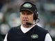 Dec 8, 2013; East Rutherford, NJ, USA; New York Jets coach Rex Ryan reacts during the game against the Oakland Raiders at MetLife Stadium. Mandatory Credit: Kirby Lee-USA TODAY Sports