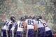 Dec 8, 2013; Baltimore, MD, USA; Minnesota Vikings players huddle up during the game against the Baltimore Ravens at M&T Bank Stadium. Mandatory Credit: Evan Habeeb-USA TODAY Sports