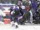 Dec 8, 2013; Baltimore, MD, USA; Minnesota Vikings wide receiver Jarius Wright (17) has the ball knocked away by Baltimore Ravens cornerback Corey Graham (24) at M&T Bank Stadium. Mandatory Credit: Evan Habeeb-USA TODAY Sports