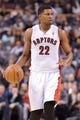 Dec 1, 2013; Toronto, Ontario, CAN; Toronto Raptors small forward Rudy Gay (22) brings the ball up court during the third quarter of a game against the Denver Nuggets at the Air Canada Centre. Denver won the game 112-98. Mandatory Credit: Mark Konezny-USA TODAY Sports