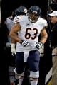 Dec 1, 2013; Minneapolis, MN, USA;  Chicago Bears center Roberto Garza (63) runs onto the field before the game with the Minnesota Vikings at Mall of America Field at H.H.H. Metrodome. Vikings win 23-20 in overtime. Mandatory Credit: Bruce Kluckhohn-USA TODAY Sports