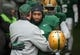 Dec 7, 2013; Waco, TX, USA; Baylor Bears head coach Art Briles and safety Ahmad Dixon (6) before the game against the Texas Longhorns at Floyd Casey Stadium. The Baylor Bears defeated the Texas Longhorns 30-10 to win the Big 12 championship. Mandatory Credit: Jerome Miron-USA TODAY Sports