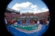 Nov 23, 2013; Gainesville, FL, USA; An overview of Ben Hill Griffin Stadium as the Florida Gators run out of the tunnel prior to the game against the Georgia Southern Eagles at Ben Hill Griffin Stadium. Mandatory Credit: Kim Klement-USA TODAY Sports