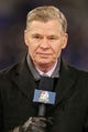 Nov 28, 2013; Baltimore, MD, USA; NFL announcer Dan Patrick reporting prior to the Pittsburgh Steelers game against the Baltimore Ravens on Thanksgiving at M&T Bank Stadium. Mandatory Credit: Mitch Stringer-USA TODAY Sports