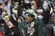 Dec 8, 2013; Philadelphia, PA, USA; A Philadelphia Eagles fan celebrates during the fourth quarter against the Detroit Lions at Lincoln Financial Field. The Eagles defeated the Lions 34-20. Mandatory Credit: Howard Smith-USA TODAY Sports