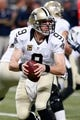 Dec 15, 2013; St. Louis, MO, USA; New Orleans Saints quarterback Drew Brees (9) looks to pass the ball against the St. Louis Rams at the Edward Jones Dome. Mandatory Credit: Scott Kane-USA TODAY Sports