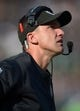 Dec 15, 2013; Oakland, CA, USA; Oakland Raiders coach Dennis Allen reacts during the game against the Kansas City Chiefs at O.co Coliseum. The Chiefs defeated the Raiders 56-31. Mandatory Credit: Kirby Lee-USA TODAY Sports