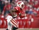 Nov 30, 2013; Madison, WI, USA; Wisconsin Badgers wide receiver Kenzel Doe (3) returns a punt during the game with Penn State at Camp Randall Stadium. Penn State defeated Wisconsin 31-24. Mandatory Credit: Mary Langenfeld-USA TODAY Sports