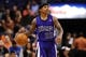 Nov 20, 2013; Phoenix, AZ, USA; Sacramento Kings guard Isaiah Thomas (22) dribbles the ball up the court against the Phoenix Suns in the first half at US Airways Center. The Kings defeated the Suns 113-106. Mandatory Credit: Jennifer Stewart-USA TODAY Sports