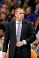 Nov 20, 2013; Phoenix, AZ, USA; Sacramento Kings head coach Michael Malone on the sidelines against the Phoenix Suns in the first half at US Airways Center. The Kings defeated the Suns 113-106. Mandatory Credit: Jennifer Stewart-USA TODAY Sports