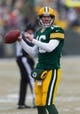 Dec 8, 2013; Green Bay, WI, USA; Green Bay Packers quarterback Scott Tolzien (16) during warmups prior to the game against the Atlanta Falcons at Lambeau Field.  Green Bay won 22-21.  Mandatory Credit: Jeff Hanisch-USA TODAY Sports