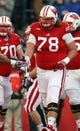 Nov 30, 2013; Madison, WI, USA; Wisconsin Badgers offensive lineman Rob Havenstein (78) during the game with Penn State at Camp Randall Stadium. Penn State defeated Wisconsin 31-24. Mandatory Credit: Mary Langenfeld-USA TODAY Sports