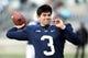 Nov 23, 2013; University Park, PA, USA; Penn State Nittany Lions quarterback Austin Whipple (3) looks to throw a pass prior to the game against the Nebraska Cornhuskers at Beaver Stadium. Nebraska defeated Penn State 23-20 in overtime. Mandatory Credit: Matthew O'Haren-USA TODAY Sports