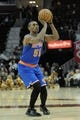 Dec 10, 2013; Cleveland, OH, USA; New York Knicks small forward Metta World Peace during a game against the Cleveland Cavaliers at Quicken Loans Arena. Cleveland won 109-94. Mandatory Credit: David Richard-USA TODAY Sports