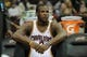 Dec 10, 2013; Cleveland, OH, USA; Cleveland Cavaliers shooting guard Dion Waiters sits on the bench during a game against the New York Knicks at Quicken Loans Arena. Cleveland won 109-94. Mandatory Credit: David Richard-USA TODAY Sports