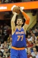 Dec 10, 2013; Cleveland, OH, USA; New York Knicks power forward Andrea Bargnani during a game against the Cleveland Cavaliers at Quicken Loans Arena. Cleveland won 109-94. Mandatory Credit: David Richard-USA TODAY Sports