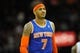 Dec 10, 2013; Cleveland, OH, USA; New York Knicks small forward Carmelo Anthony during a game against the Cleveland Cavaliers at Quicken Loans Arena. Cleveland won 109-94. Mandatory Credit: David Richard-USA TODAY Sports
