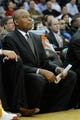 Dec 10, 2013; Cleveland, OH, USA; Cleveland Cavaliers assistant coach Bernie Bickerstaff sits on bench during a game against the New York Knicks at Quicken Loans Arena. Cleveland won 109-94. Mandatory Credit: David Richard-USA TODAY Sports