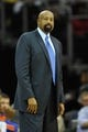 Dec 10, 2013; Cleveland, OH, USA; New York Knicks head coach Mike Woodson during a game against the Cleveland Cavaliers at Quicken Loans Arena. Cleveland won 109-94. Mandatory Credit: David Richard-USA TODAY Sports