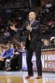Dec 17, 2013; Charlotte, NC, USA; Sacramento Kings head coach Michael Malone calls out to his team during the second half of the game against the Charlotte Bobcats at Time Warner Cable Arena. Bobcats win 95-87. Mandatory Credit: Sam Sharpe-USA TODAY Sports