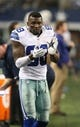 Dec 15, 2013; Arlington, TX, USA; Dallas Cowboys receiver Dez Bryant (88) claps while in the bench area during the game against the Green Bay Packers at AT&T Stadium. Mandatory Credit: Matthew Emmons-USA TODAY Sports