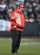 Dec 15, 2013; Oakland, CA, USA; Kansas City Chiefs coach Andy Reid reacts during the game against the Oakland Raiders at O.co Coliseum. The Chiefs defeated the Raiders 56-31. Mandatory Credit: Kirby Lee-USA TODAY Sports