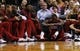 Dec 16, 2013; Miami, FL, USA;  Miami Heat small forward LeBron James (6) reacts to injuring his ankle in the second half of a game against the Utah Jazz at American Airlines Arena. Mandatory Credit: Robert Mayer-USA TODAY Sports