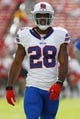 Dec 8, 2013; Tampa, FL, USA; Buffalo Bills running back C.J. Spiller (28) prior to the game against the Tampa Bay Buccaneers at Raymond James Stadium. Mandatory Credit: Kim Klement-USA TODAY Sports