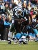 Dec 15, 2013; Charlotte, NC, USA; Carolina Panthers wide receiver Brandon LaFell (11) with the ball in the first quarter at Bank of America Stadium. Mandatory Credit: Bob Donnan-USA TODAY Sports