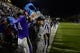 Dec 20, 2013; Salem, VA, USA; UW-Whitewater linebacker Cole Klotz (44) dumps a cooler on head coach Lance Leipold at the end of the game. UW-Whitewater defeated Mount Union Purple Raiders 52-14 at Salem Stadium. Mandatory Credit: Bob Donnan-USA TODAY Sports