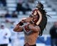 Dec 21, 2013; Boise, ID, USA; The San Diego State Aztecs mascot performs during the first half of the Idaho Potato Bowl against the Buffalo Bulls at Bronco Stadium. Mandatory Credit: Brian Losness-USA TODAY Sports