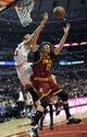 Dec 21, 2013; Chicago, IL, USA; Chicago Bulls center Joakim Noah (13) and Cleveland Cavaliers center Anderson Varejao (17) go for the ball during the second half at the United Center. T'he Chicago Bulls defeated the Cleveland Cavaliers 100-84. Mandatory Credit: David Banks-USA TODAY Sports