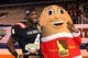 Dec 21, 2013; Boise, ID, USA; San Diego State Aztecs running back Adam Muema (4)  holds the game MVP award after the Idaho Potato Bowl against the Buffalo Bulls at Bronco Stadium. San Diego defeated Buffalo 49-24. Mandatory Credit: Brian Losness-USA TODAY Sports