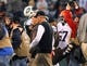 Dec 22, 2013; East Rutherford, NJ, USA; New York Jets head coach Rex Ryan walks off the field after the Jets 24-13 win over the Cleveland Browns at MetLife Stadium.  Mandatory Credit: Ed Mulholland-USA TODAY Sports