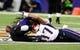 Dec 22, 2013; Baltimore, MD, USA; New England Patriots wide receiver Aaron Dobson (17) tries to make a catch around Baltimore Ravens cornerback Lardarius Webb (21) at M&T Bank Stadium. Mandatory Credit: Evan Habeeb-USA TODAY Sports