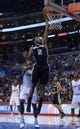Dec 16, 2013; Los Angeles, CA, USA; San Antonio Spurs forward Kawhi Leonard (2) shoots the ball against the Los Angeles Clippers at Staples Center. The Clippers defeated the Spurs 115-92. Mandatory Credit: Kirby Lee-USA TODAY Sports