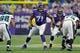 Dec 15, 2013; Minneapolis, MN, USA; Minnesota Vikings tackle Phil Loadholt (71) blocks against the Philadelphia Eagles in the first quarter at Mall of America Field at H.H.H. Metrodome. Mandatory Credit: Bruce Kluckhohn-USA TODAY Sports