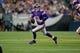 Dec 15, 2013; Minneapolis, MN, USA; Minnesota Vikings quarterback Matt Cassel (16) scrambles against the Philadelphia Eagles in the third quarter at Mall of America Field at H.H.H. Metrodome. The Vikings win 48-30. Mandatory Credit: Bruce Kluckhohn-USA TODAY Sports
