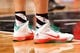 Dec 25, 2013; Brooklyn, NY, USA;  Christmas sneakers of Brooklyn Nets power forward Mirza Teletovic (33) during the fourth quarter against the Chicago Bulls at Barclays Center. Chicago Bulls won 95-78.  Mandatory Credit: Anthony Gruppuso-USA TODAY Sports