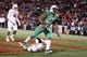 Dec 27, 2013; Annapolis, MD, USA; Marshall Herd tight end Gator Hoskins (26) scores a fourth quarter rushing touchdown against the Maryland Terrapins during the 2013 Military Bowl at Navy-Marine Corps Memorial Stadium. Mandatory Credit: Mitch Stringer-USA TODAY Sports