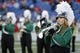 Dec 27, 2013; Annapolis, MD, USA; A Marshall Thundering Herd band member preforms on the field during a stoppage in play against the Maryland Terrapins during the 2013 Military Bowl at Navy Marine Corps Memorial Stadium. Mandatory Credit: Geoff Burke-USA TODAY Sports